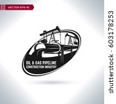 logo oil and gas pipeline... | Shutterstock .eps vector #603178253
