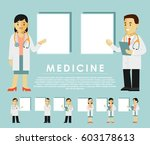 medicine people character set... | Shutterstock .eps vector #603178613