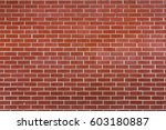 red brick wall background....   Shutterstock . vector #603180887