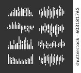 set image of the sound wave.... | Shutterstock .eps vector #603181763