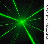 abstract green laser beams.... | Shutterstock .eps vector #603195677