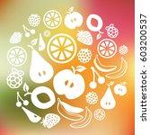 vector illustration of  fruits...   Shutterstock .eps vector #603200537