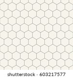 geometric hexagon minimal grid... | Shutterstock .eps vector #603217577