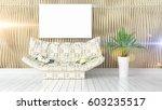 modern bright interior with... | Shutterstock . vector #603235517