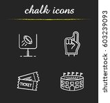 american football chalk icons... | Shutterstock .eps vector #603239093