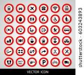 set social icons on a white... | Shutterstock .eps vector #603243893