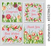 set of beautiful greeting cards ... | Shutterstock .eps vector #603258623