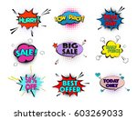 speed comic pop art sale clouds.... | Shutterstock .eps vector #603269033