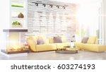 modern bright interior . 3d...   Shutterstock . vector #603274193