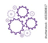gear wheels vector icons set.... | Shutterstock .eps vector #603280817