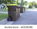 a group of garbage cans on the... | Shutterstock . vector #60328288