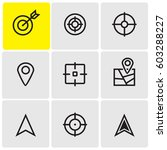 target icons | Shutterstock .eps vector #603288227