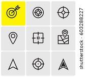 target icons | Shutterstock .eps vector #603288227