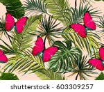 beautiful seamless vector... | Shutterstock .eps vector #603309257
