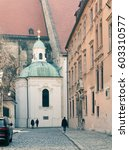 kapitulska street in bratislava | Shutterstock . vector #603310577