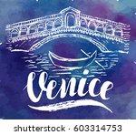 Vector Illustration  Venice...