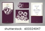 set of wedding floral... | Shutterstock .eps vector #603324047