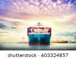 logistics and transportation of ... | Shutterstock . vector #603324857