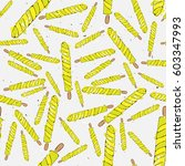 ice cream pattern illustration  ... | Shutterstock .eps vector #603347993
