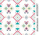 geometric seamless pattern with ... | Shutterstock .eps vector #603355097