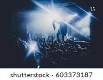 music band   group silhouette... | Shutterstock . vector #603373187