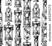 seamless pattern with different ... | Shutterstock . vector #603395273