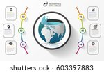 abstract ecology infographic... | Shutterstock .eps vector #603397883