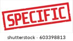 specific text  on red rectangle ... | Shutterstock . vector #603398813