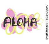 hand lettering vector... | Shutterstock .eps vector #603403097