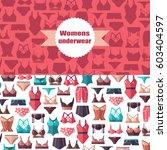 women's underwear. | Shutterstock .eps vector #603404597