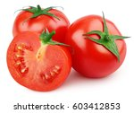 red tomato vegetables with... | Shutterstock . vector #603412853