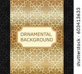 luxury ornamental vintage... | Shutterstock .eps vector #603413633