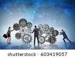 teamwork concept with... | Shutterstock . vector #603419057