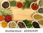 various spices selection. food... | Shutterstock . vector #60342439