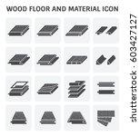 wood floor and material vector... | Shutterstock .eps vector #603427127
