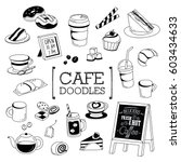 several things of cafe in... | Shutterstock .eps vector #603434633