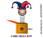 april fools day graphic design  ...   Shutterstock .eps vector #603434987