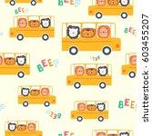 seamless pattern of cute... | Shutterstock .eps vector #603455207