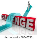 a person jumps over a challenge ... | Shutterstock . vector #60345715