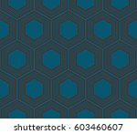 modern geometric seamless... | Shutterstock .eps vector #603460607