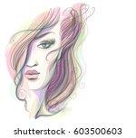 vector  stylish  original hand... | Shutterstock .eps vector #603500603