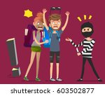 the danger of traveling abroad. ... | Shutterstock .eps vector #603502877