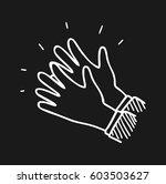 applause doodle art | Shutterstock .eps vector #603503627