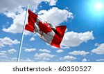 Canadian Flag In Front Of Vivi...
