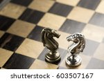 chess business concept  leader  ... | Shutterstock . vector #603507167