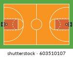 basketball court on green... | Shutterstock .eps vector #603510107