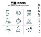 set of 9 social network icons.... | Shutterstock .eps vector #603512357