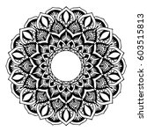 mandalas for coloring book.... | Shutterstock .eps vector #603515813