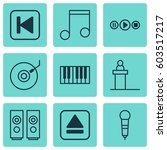 set of 9 music icons. includes...