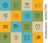 set of 16 project management... | Shutterstock .eps vector #603517703